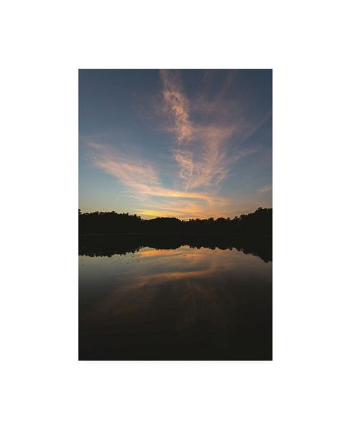 "Trademark Global Kurt Shaffer Kendal Lake Sunset Pastel Canvas Art - 20"" x 25"""