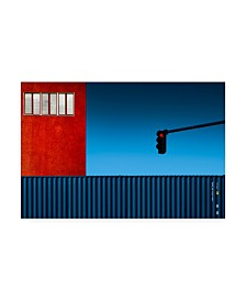 "Inge Schuster Red Light Traffic Canvas Art - 37"" x 49"""