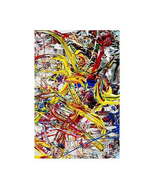 "Trademark Global Mark Lovejoy Abstract Splatters Lovejoy 18 Canvas Art - 20"" x 25"""