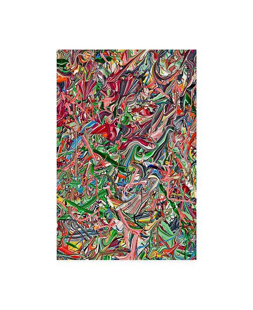 "Trademark Global Mark Lovejoy Abstract Splatters Lovejoy 20 Canvas Art - 37"" x 49"""