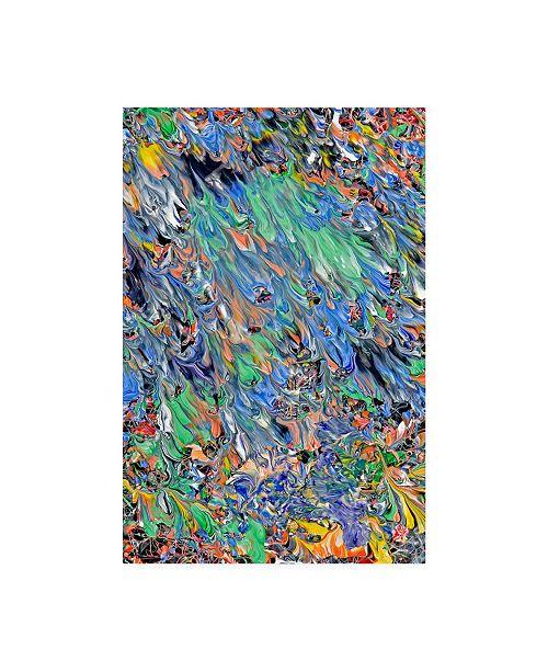 "Trademark Global Mark Lovejoy Abstract Splatters Lovejoy 40 Canvas Art - 37"" x 49"""
