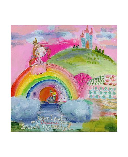 "Trademark Global Mindy Lacefield Dreams Become Real Canvas Art - 27"" x 33"""