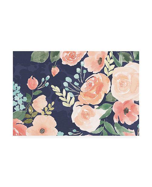 "Trademark Global Jenaya Jackson Blooming Delight III Blue Canvas Art - 20"" x 25"""