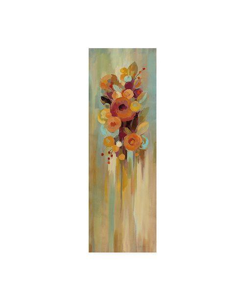 "Trademark Global Silvia Vassileva Tall Autumn Flowers I Canvas Art - 20"" x 25"""
