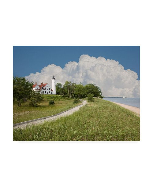 "Trademark Global Monte Nagler Point Iroquois Lighthouse Bay Mills Michigan Canvas Art - 20"" x 25"""