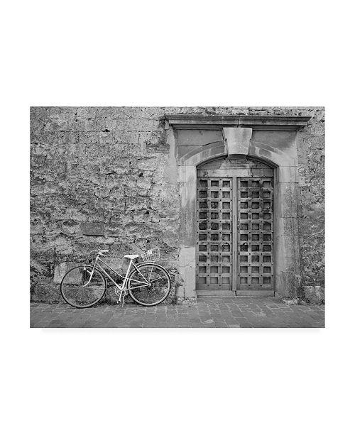 """Trademark Global Monte Nagler Bicycle and Door Verdun Switzerland Canvas Art - 15"""" x 20"""""""