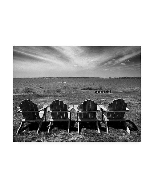 "Trademark Global Monte Nagler Four Chairs Newport Rhode Island Canvas Art - 15"" x 20"""