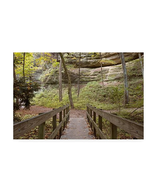 "Trademark Global Monte Nagler Bridge in the Canyon Canvas Art - 20"" x 25"""