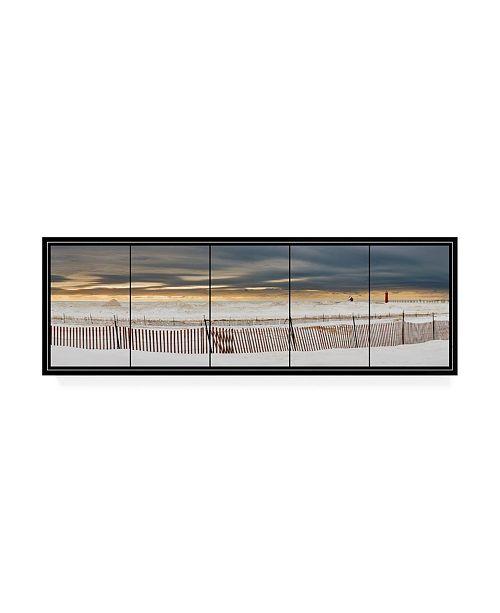 "Trademark Global Monte Nagler Grand Haven Lighthouse Panorama Canvas Art - 20"" x 25"""