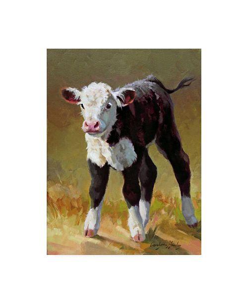 "Trademark Global Carolyne Hawley Princess Cow Canvas Art - 15"" x 20"""