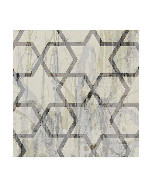 "Trademark Global Jennifer Goldberger Neutral Metric VIII Canvas Art - 15"" x 20"""