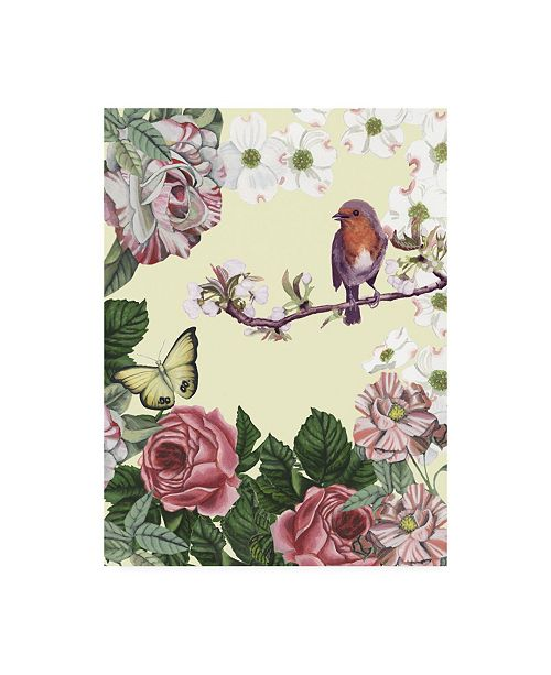 "Trademark Global Naomi Mccavitt Bird Garden II Canvas Art - 15"" x 20"""