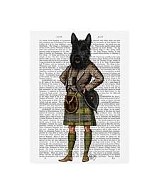 "Fab Funky Scottish Terrier in Kilt Canvas Art - 15.5"" x 21"""