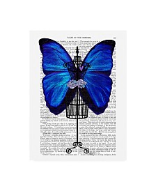 "Fab Funky Mannequin, Blue Butterfly Canvas Art - 27"" x 33.5"""