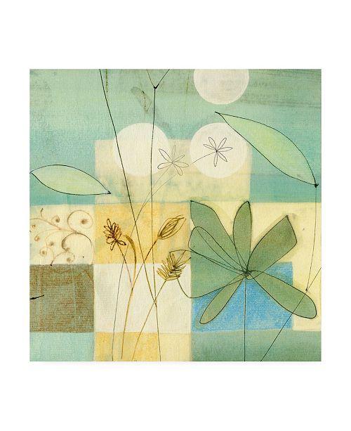"Trademark Global Pablo Esteban Flowers and Pastel Squares Canvas Art - 19.5"" x 26"""