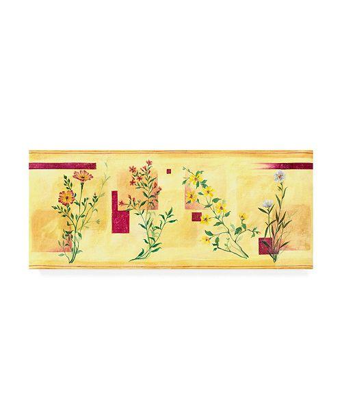 "Trademark Global Pablo Esteban Pink Overgrown Flowers Canvas Art - 19.5"" x 26"""
