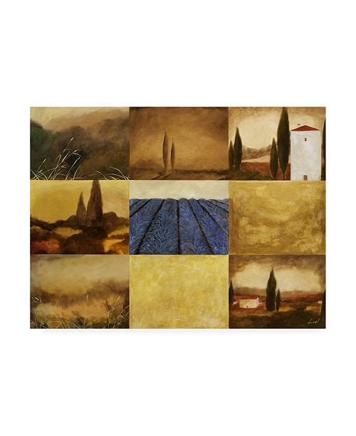 "Trademark Global Pablo Esteban Tuscan Villa Pattern 1 Canvas Art - 15.5"" x 21"""