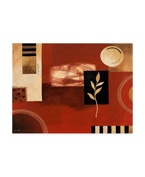 "Trademark Global Pablo Esteban Red and Beige Panels 1 Canvas Art - 15.5"" x 21"""
