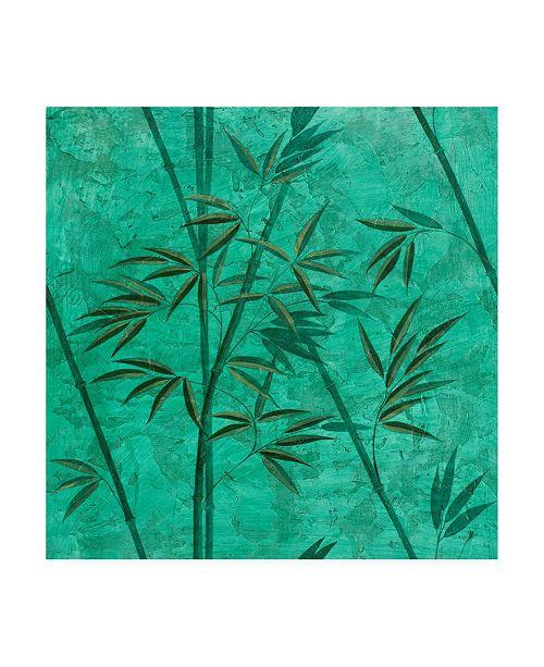 "Trademark Global Pablo Esteban Teal Bamboo Canvas Art - 15.5"" x 21"""