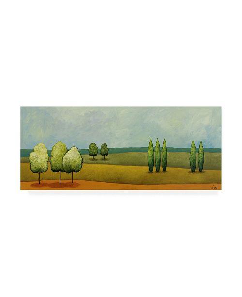 "Trademark Global Pablo Esteban Green Tuscan Paint Landscape 1 Canvas Art - 15.5"" x 21"""