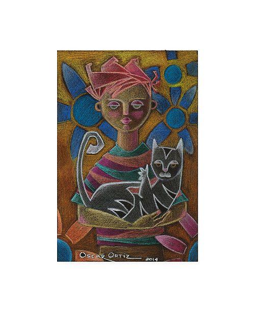 "Trademark Global Oscar Ortiz I Found this Kid and I'm Keeping it Canvas Art - 36.5"" x 48"""
