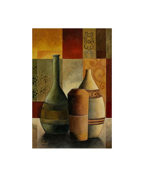 "Trademark Global Pablo Esteban Vases Over Geometry 1 Canvas Art - 36.5"" x 48"""