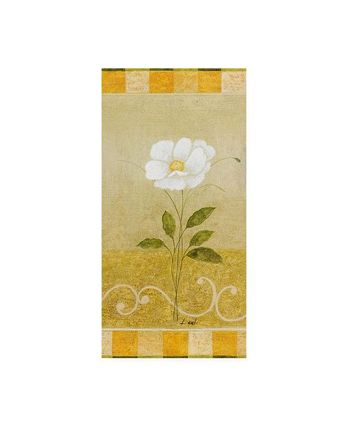 "Trademark Global Pablo Esteban White Floral Yellow 3 Canvas Art - 19.5"" x 26"""