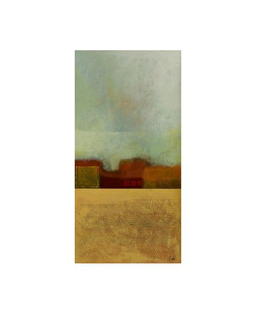 "Trademark Global Pablo Esteban Red Flat Cityscape 1 Canvas Art - 36.5"" x 48"""