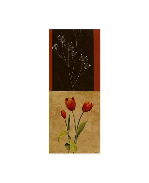 "Trademark Global Pablo Esteban Flowers and Line Art 1 Canvas Art - 15.5"" x 21"""