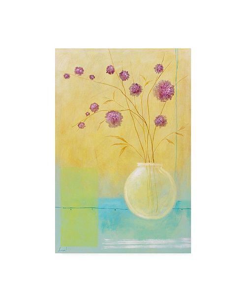 "Trademark Global Pablo Esteban Small Floral Vase 1 Canvas Art - 36.5"" x 48"""