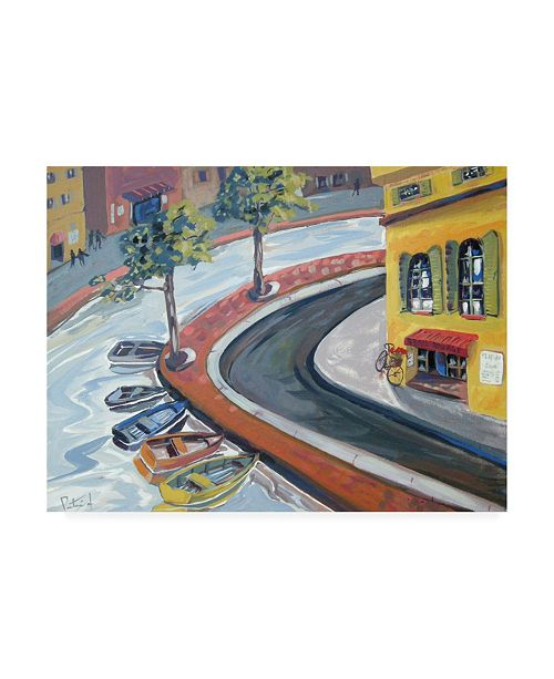 """Trademark Global Patricia A. Reed Colorful Harbor Canvas Art - 36.5"""" x 48"""""""