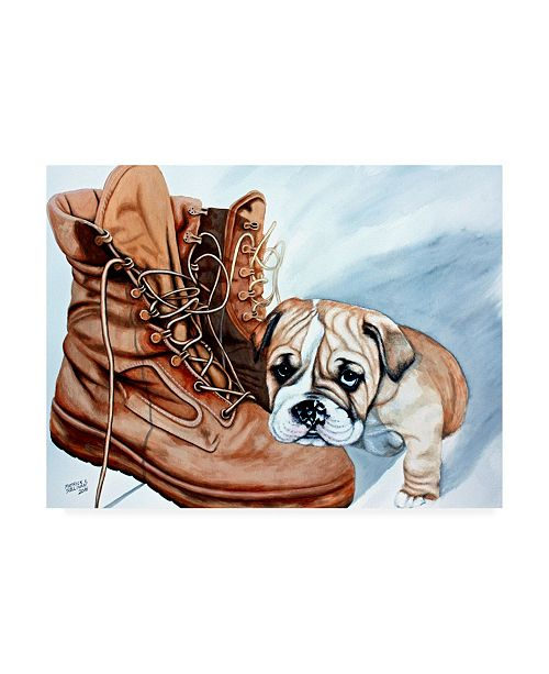 "Trademark Global Patrick Sullivan Boots Bulldog Canvas Art - 19.5"" x 26"""