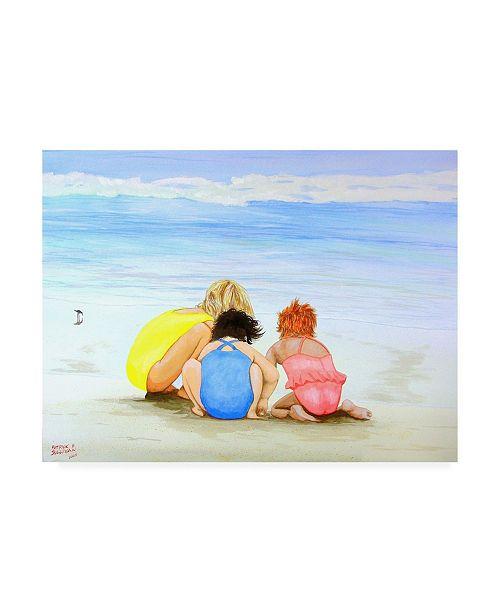 "Trademark Global Patrick Sullivan 3 Lil Maids Canvas Art - 19.5"" x 26"""