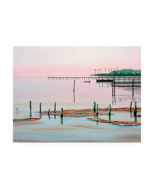 "Trademark Global Patrick Sullivan Fishing Broken Pier Canvas Art - 19.5"" x 26"""