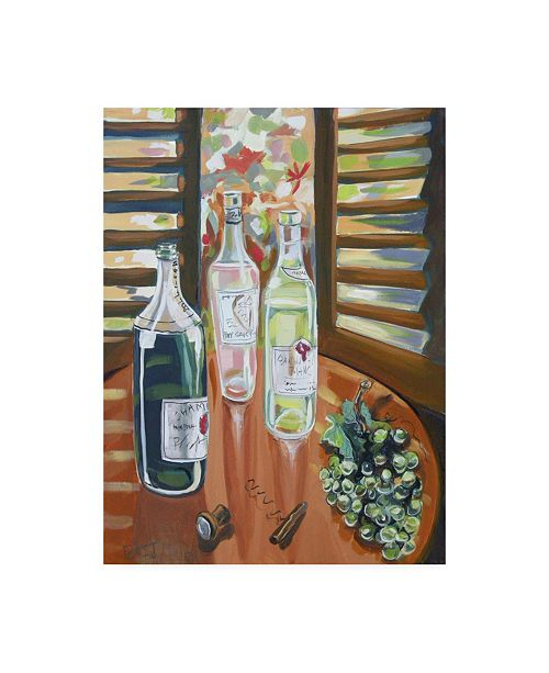 """Trademark Global Patricia A. Reed Three Bottles Canvas Art - 36.5"""" x 48"""""""