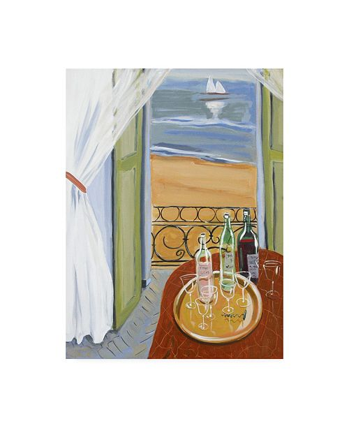 """Trademark Global Patricia A. Reed Terrace Tasting Canvas Art - 19.5"""" x 26"""""""
