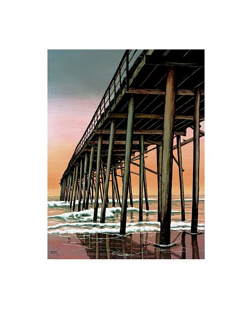 "Trademark Global Patrick Sullivan Vertical Pier Canvas Art - 36.5"" x 48"""