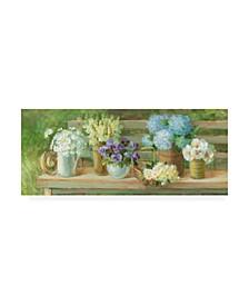 "Danhui Nai Summer Garden Bench Canvas Art - 15.5"" x 21"""