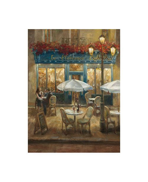 "Trademark Global Danhui Nai Paris Cafe I Canvas Art - 19.5"" x 26"""