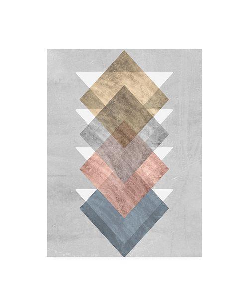 "Trademark Global Jennifer Goldberger Diamond Align I Canvas Art - 27"" x 33.5"""