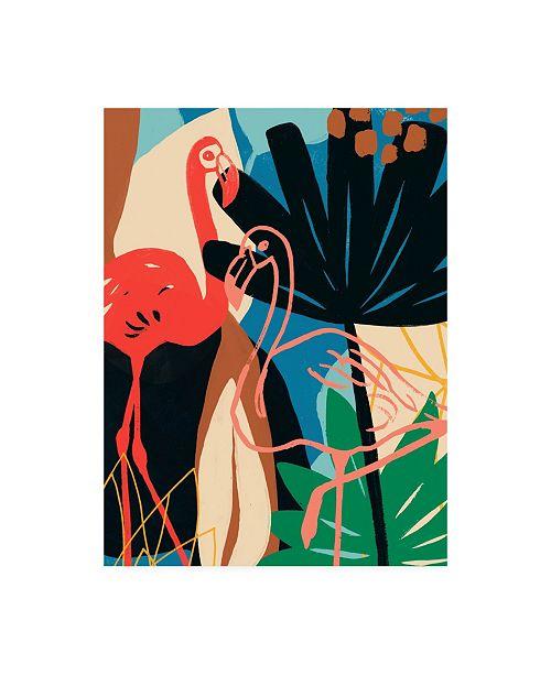 "Trademark Global June Erica Vess Funky Flamingo I Canvas Art - 15.5"" x 21"""