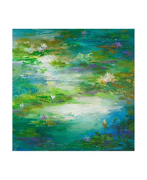 "Trademark Global Sheila Finch Water Lily Pond 2 Canvas Art - 15.5"" x 21"""