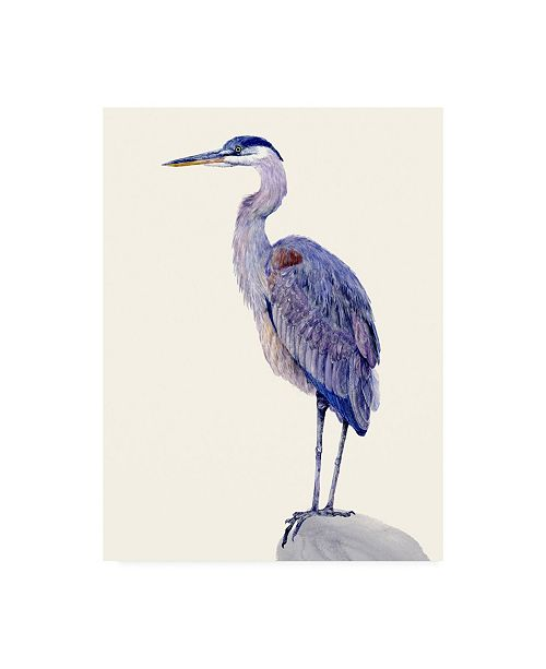 "Trademark Global Melissa Wang Heron Study I Canvas Art - 15.5"" x 21"""