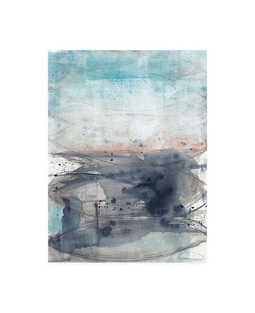 "Trademark Global Jennifer Goldberger Peach on the Horizon II Canvas Art - 15.5"" x 21"""