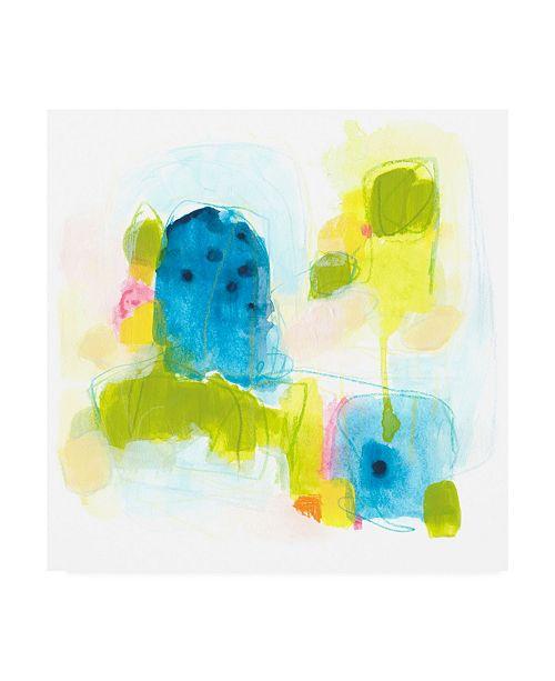 "Trademark Global June Erica Vess Narrative Structure IV Canvas Art - 15.5"" x 21"""