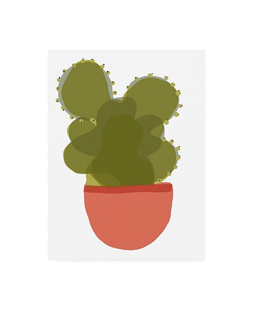 "Trademark Global Rob Delamater Mod Cactus II Canvas Art - 27"" x 33.5"""