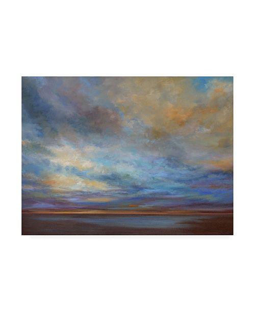"Trademark Global Sheila Finch Coastal Clouds I Canvas Art - 15.5"" x 21"""