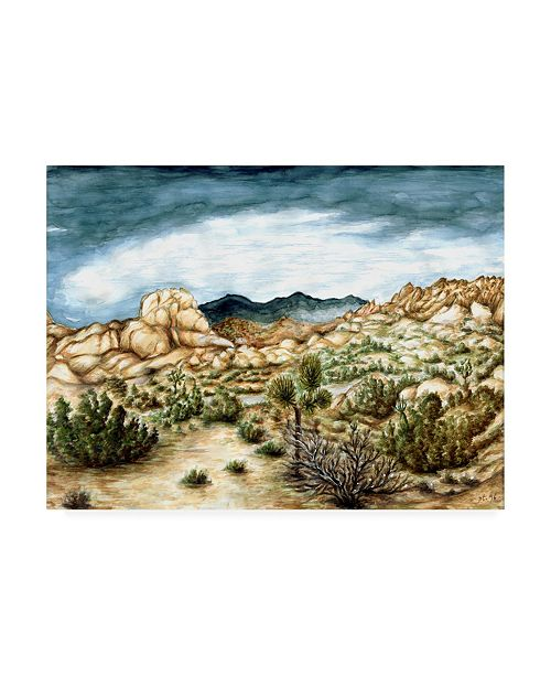 "Trademark Global Peter Potter Joshua Trees Canvas Art - 15.5"" x 21"""