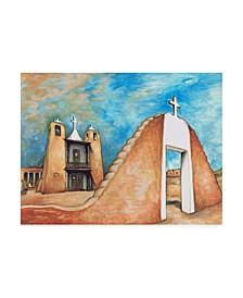 """Peter Potter Taos Pueblo Canvas Art - 15.5"""" x 21"""""""