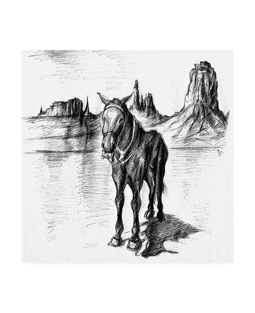 """Trademark Global Peter Potter Lonely Mule Canvas Art - 19.5"""" x 26"""""""